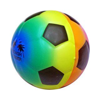 Мяч мягкий 6,35 см Футбол радужный