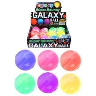 Мяч прыгун Галактика, 5,5 см, свет, дисплей