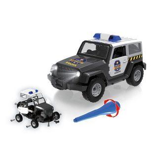 Конструктор-скрутка Полицейский джип, свет, звук, эл.пит.3*AG13 не вх.в комплект, кор.