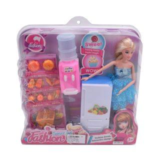 """Игр. набор """"Кухна"""", в комплекте кукла 30 см, предметов 19 шт.,кор."""