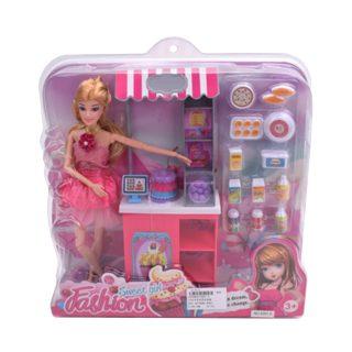 """Игр. набор """"Магазин"""", в комплекте кукла 30 см, предметов 14 шт.,кор."""