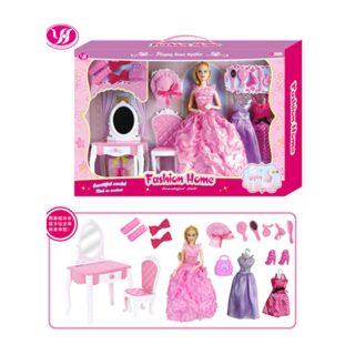 """Игр. набор """"Модница"""", в комплекте кукла 30 см, предметов 17 шт.,кор."""