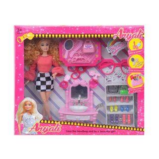 """Игр. набор """"Модница"""", в комплекте кукла 30 см, предметов 19 шт.,кор."""