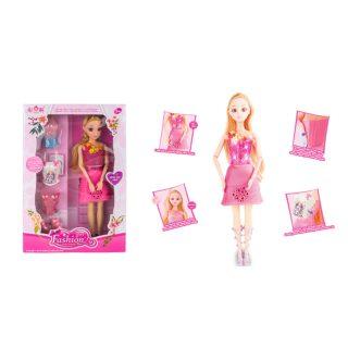 """Игр. набор """"Модница"""", в комплекте кукла 30 см, предметов 5 шт., кор."""