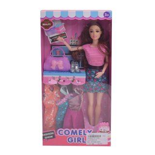 Игр. набор Модница, в комплекте кукла 30 см, предметов 5 шт., кор.