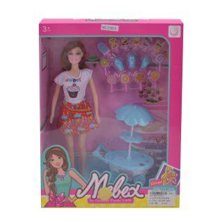 """Игр. набор """"Мороженое"""", в комплекте кукла 30 см, предметов 16 шт.,кор."""