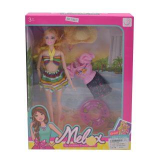 """Игр. набор """"Пляжный отдых"""", в комплекте кукла 30 см, предметов 3 шт.,кор."""