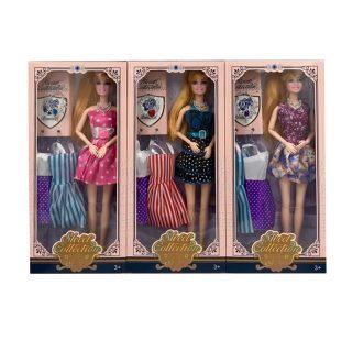 Кукла 29 см с набором платьев и аксесс., в компл.4предм., в ассорт., кор.