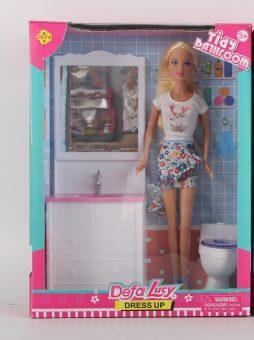Игровой набор Defa Lucy Ванная комната, в комплекте предметов 3 шт., коробка