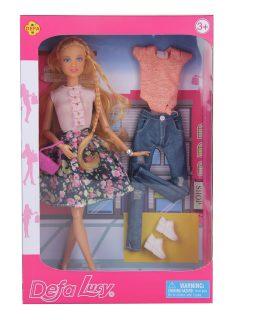 Игровой набор Defa Lucy Стилист, в комплекте кукла шарнирная, предметов 5 шт.