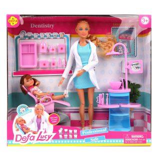 Кукла Defa Lucy Стоматолог, аксесс. 10 предм., в ассорт., кор.