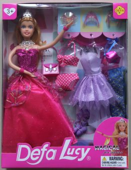 """Кукла Defa Lucy. Игровой набор Defa Luсy """"Красотка"""", роз., 1 кукла, 14 предм.в комплекте"""