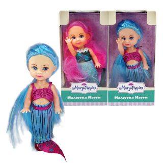 Кукла Мегги русалка  9см. в асс-те