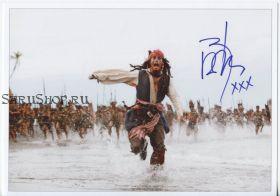 Автограф: Джонни Депп. Пираты Карибского моря: Сундук мертвеца