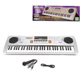 Синтезатор Bigfun 61  клав., запись, микрофон., беж./сер., в ассорт., батар. AA*4шт. не вх.в компл., кор.