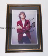 Автограф: Мик Джаггер. The Rolling Stones