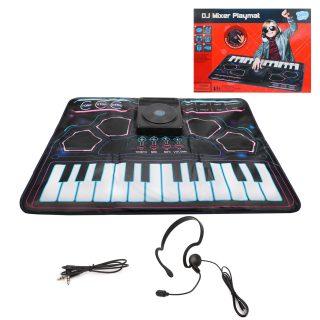 Музыкальный коврик Начинающий диджей, DJ-пульт, ударные, клавиши, MP3, наушники с микрофоном в комплекте, эл.пит. 4АА не вх.в комплект