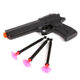 Пистолет, стрелы с присосками 3шт., пакет