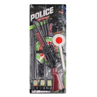 Игр.набор Полиция, ружье, пистолет, стрелы с присосками 6 шт., рация, дубинка, жезл регулировщика