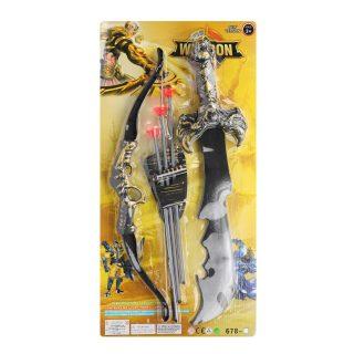 Набор оружия, Рыцарь, лук, стрелы с присосками 3шт., сабля, блистер