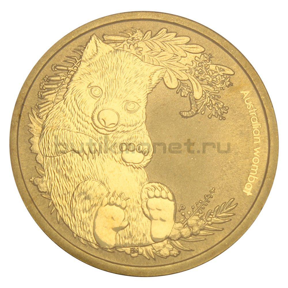 1 доллар 2013 Австралия Вомбат (Детёныши диких животных)