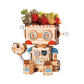 Деревянный конструктор «Цветочный горшок Робот»