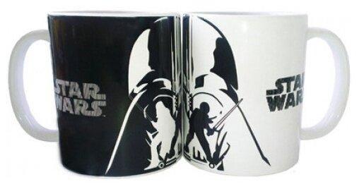Кружка 500 мл Звёздные Войны. Белое и черное керамика