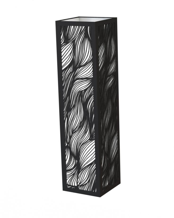 Деревянный светильник прямоугольный волнистый