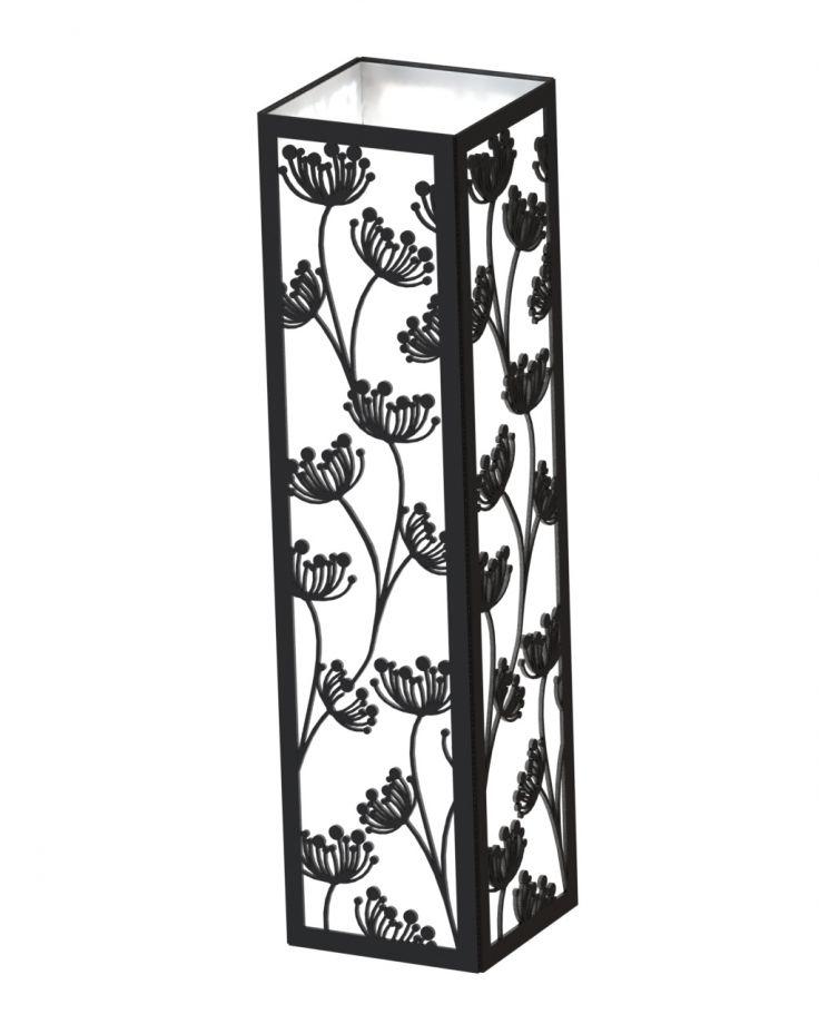 Деревянный светильник прямоугольный с цветками