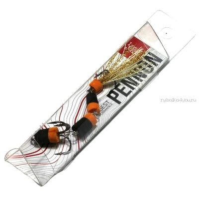 Мандула Lucky John Pennon 25 7см / цвет:  чер/оранж в блистере