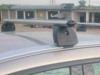 Багажник на крышу Volvo XC60, Lux, аэродинамические дуги (53 мм) на интегрированные рейлинги