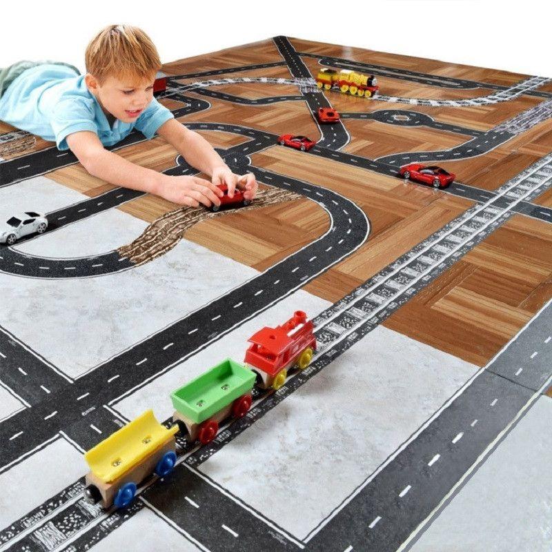 Игровой скотч с дорожной разметкой Умная железная дорога 50 мм*40 м