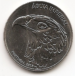 Имперский  Орел (Испанский могильник) 5 евро Португалия 2018