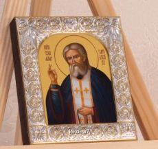 Икона Серафим Саровский (9х10,5см)