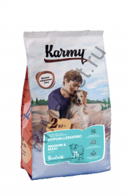 Karmy Hyppoallergenic Medium and Maxi для собак - ягненок