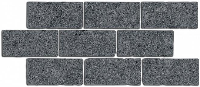 BR021 | Бордюр Роверелла серый темный мозаичный
