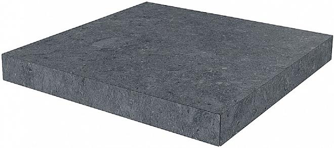 DL501300R/GCA | Ступень угловая клееная Роверелла серый темный