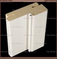 КОМПЛЕКТ дверной коробки (для двухстворчатой двери) 2070х80х38 мм. телескоп с покрытием эко-шпон Дуб Белый поперечный, Дуб серый поперечный + петли 100х70х2,5 хром 4 шт. + ответная планка под замок Morelli 1895Р SN :