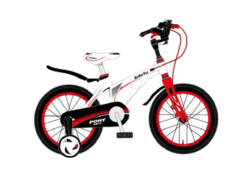 """Велосипед 16"""" BIBITU PONY, белый"""
