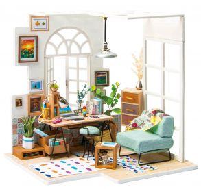 Набор для создания интерьера в миниатюре(Румбокс) «Домашний кабинет» 176*137*182.