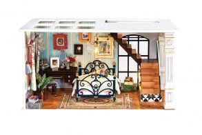 Набор для создания интерьера в миниатюре(Румбокс) «Парижская спальня» 300*150*164.