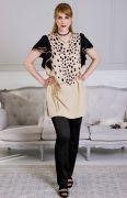 модное летнее платье с поясом