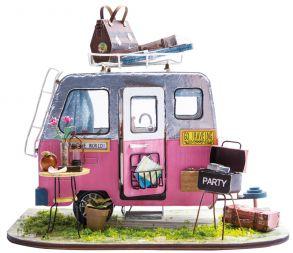Набор для создания интерьера в миниатюре(Румбокс) «Фургончик для пикника» 135*200*150.