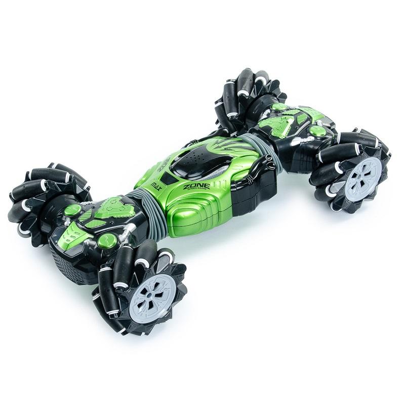 Машинка-перевёртыш с управлением жестами Champions MAX 40 см (цвет зелёный)