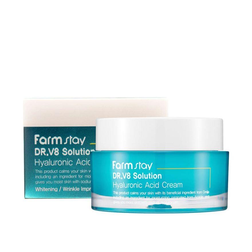 Farmstay DR.V8 Solution Hyaluronic Acid cream Крем с гиалуроновой кислотой