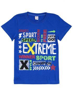 """Футболка для мальчиков 8-12 лет Bonito """"Extreme"""" синяя"""