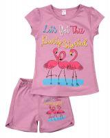 """Костюм для девочек 4-8 лет Bonito kids """"Фламинго"""" лиловый"""