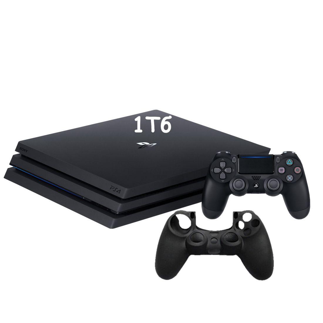 Sony PlayStation 4 Pro 1Tb ( CUH-7216B ) + Защитный чехол на джойстик из силикона