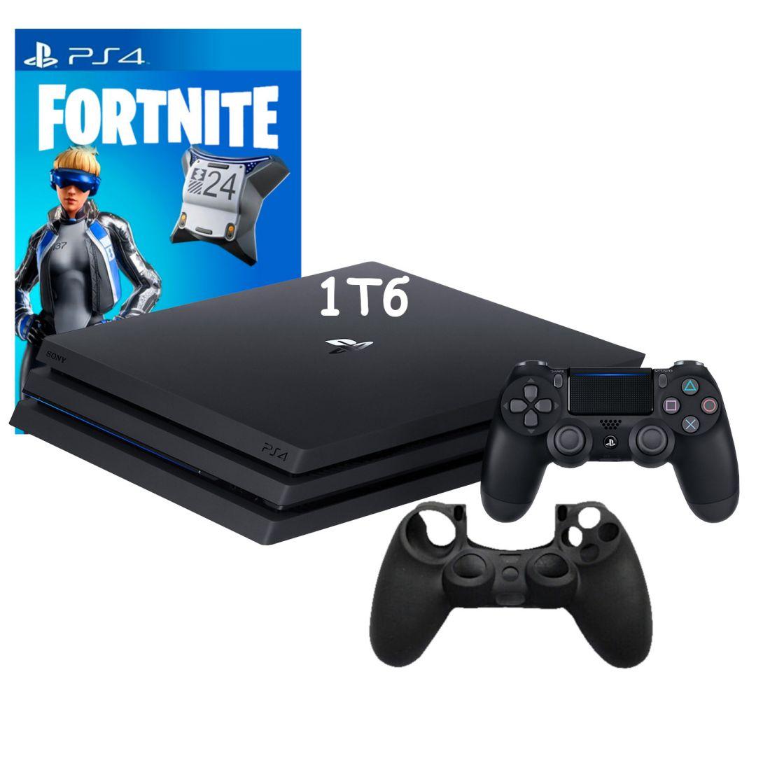 Sony PlayStation 4 Pro 1Tb ( CUH-7208B ) + Игра Fortnite Neo Versa + Силиконовый чехол для джойстика