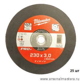 Отрезной диск комплект 25 шт. по металлу SC 41/230х3мм PRO MILWAUKEE 4932451494-25